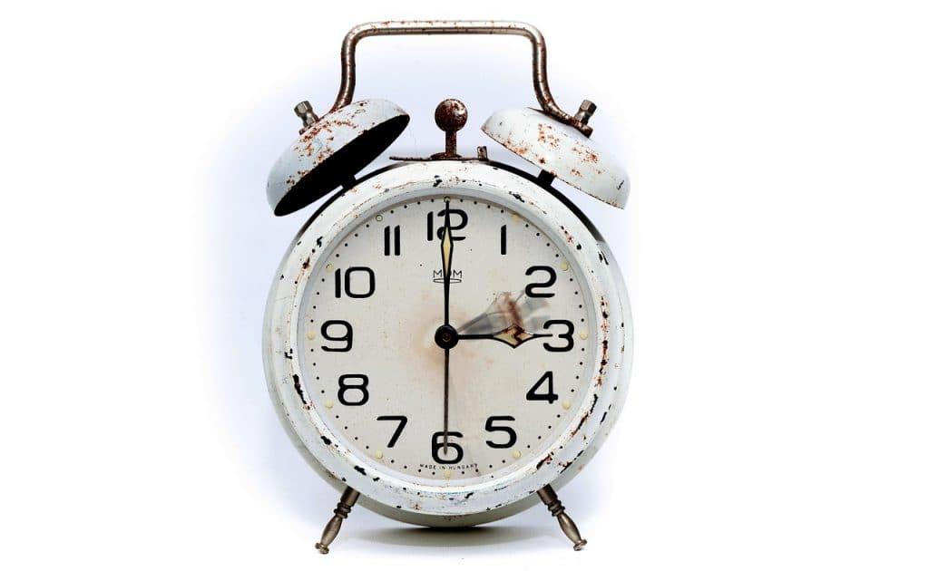 el reloj de la rutina