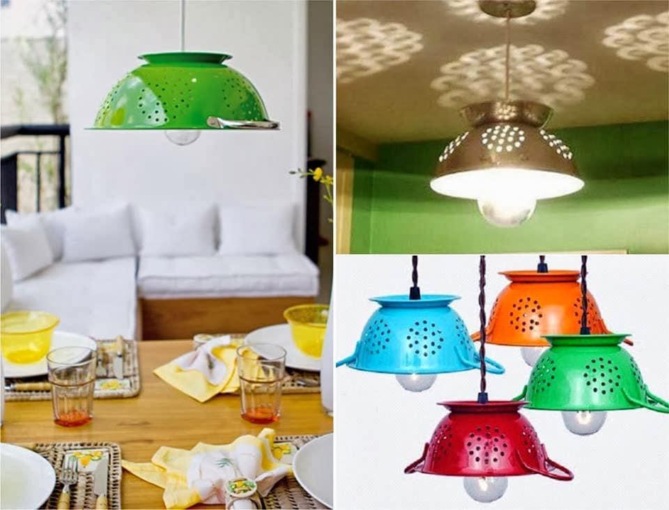 como diseñar un lámpara con materiales reciclables