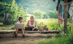 Las abuelas en el cuidado de hijos