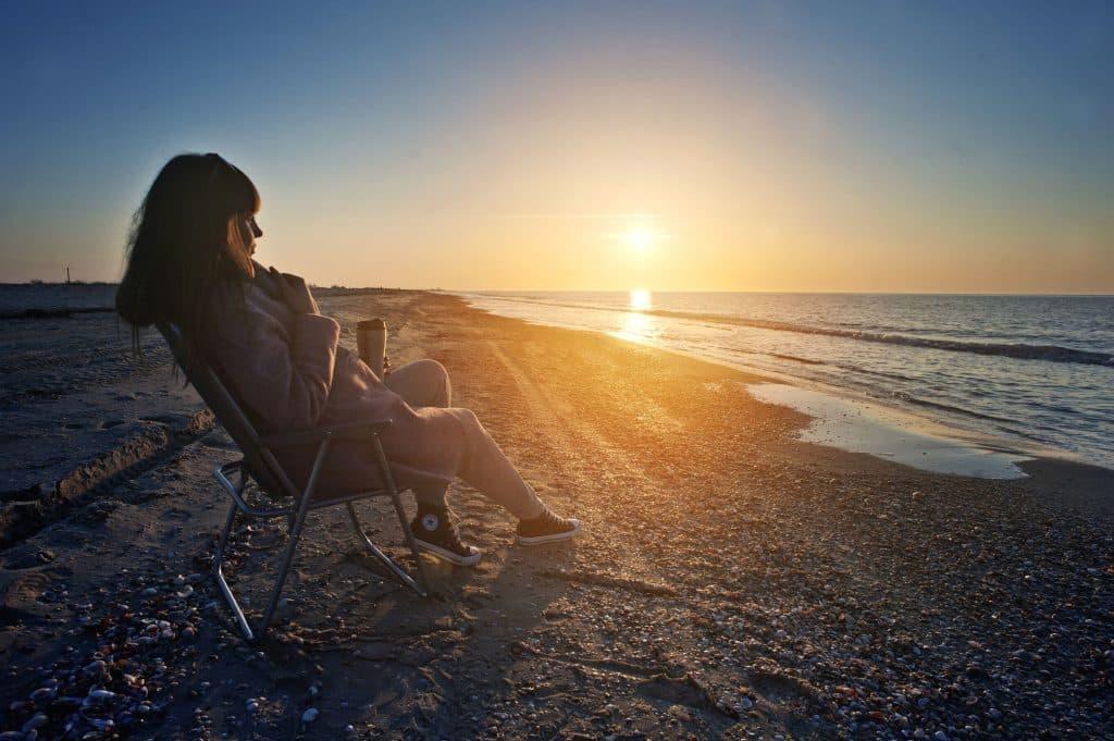 Vacaciones de verano de mujer