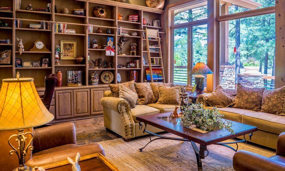 interior decoración con madera