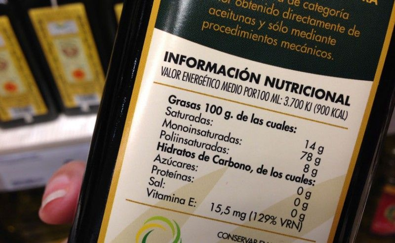 Etiqueta valor nutricional