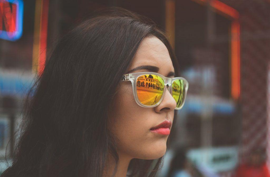 color de cristales para gafas de sol amarillas
