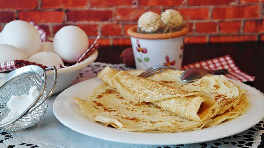 Crepes de avena desayuno