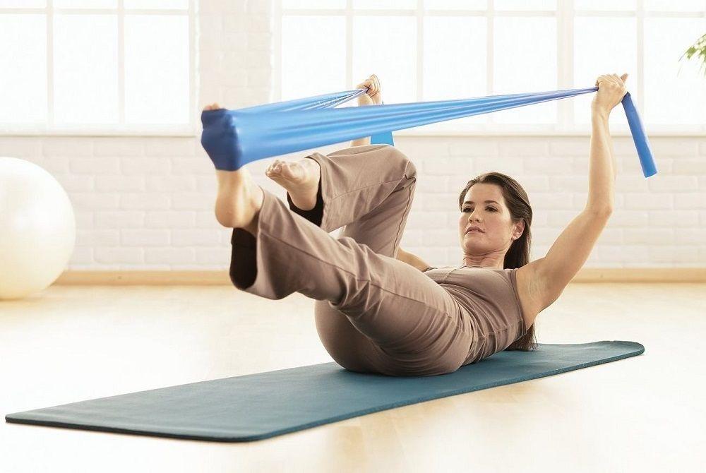 bandas elásticas para hacer yoga