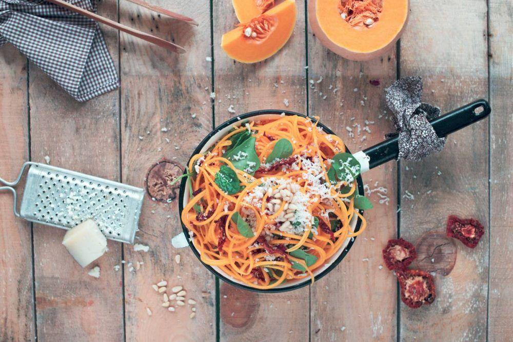 Ensalada con espirales de verdura