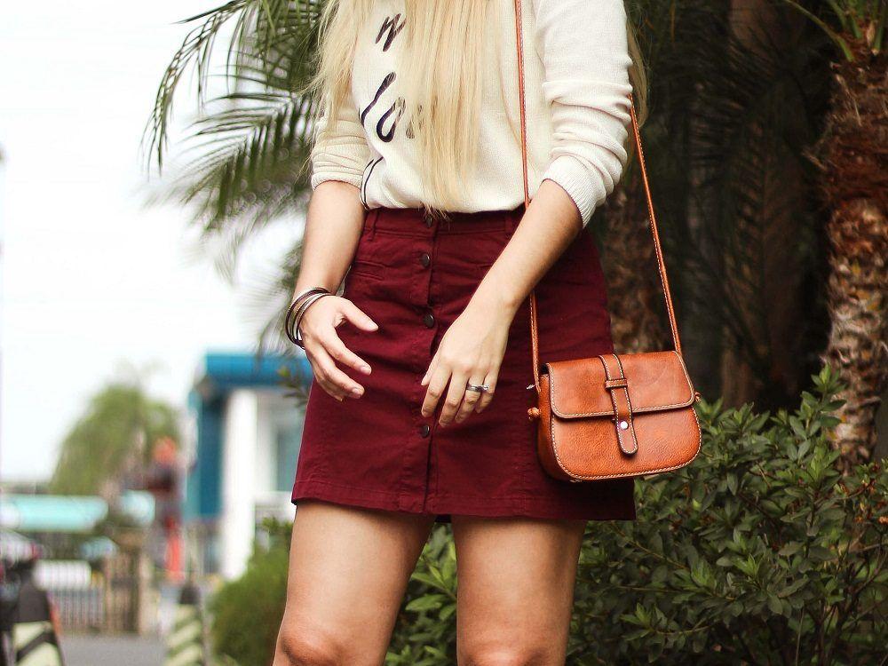 falda para combinar bolso colores tierra