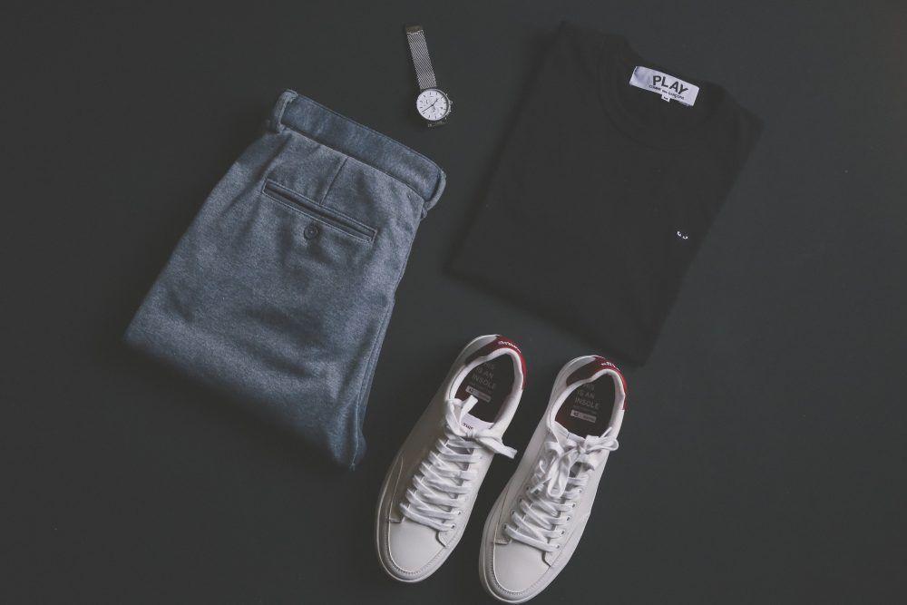 Outfit masculino con calzado deportivo