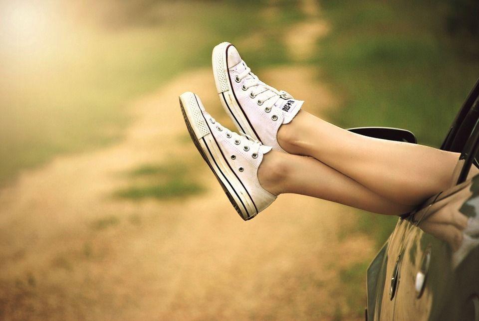 piernas de mujer depiladas