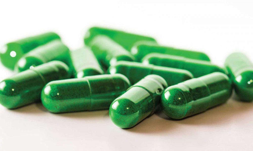 Cápsulas de espirulina