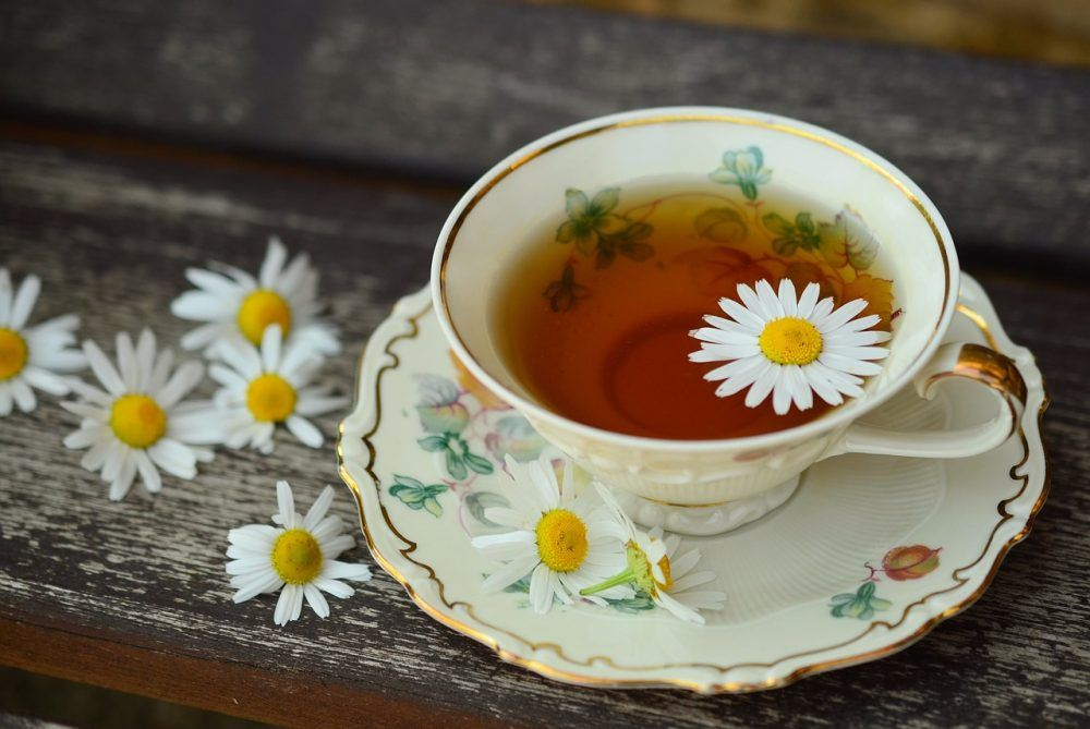 Infusion of chamomile for gases