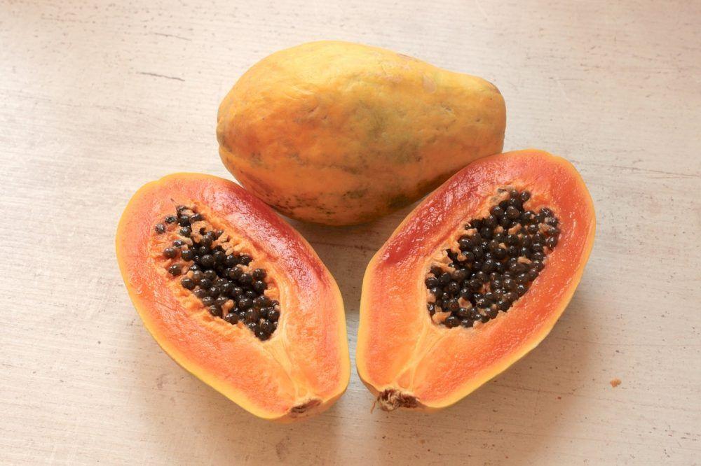 Propiedades de la papaya para los gases