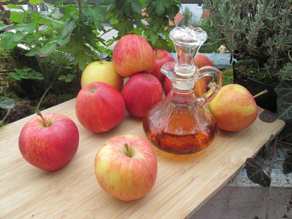 Alimentos para eliminar gases, vinagre de manzana