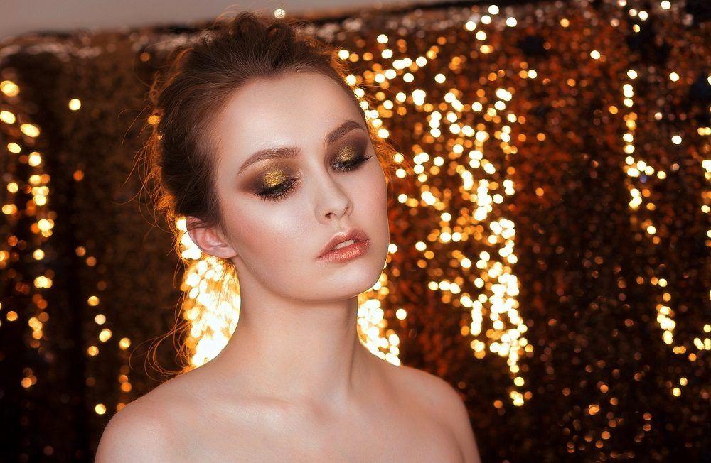 Tonos metálicos para maquillaje de noche
