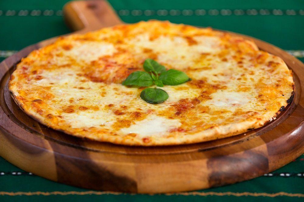 Pizza con base saludable