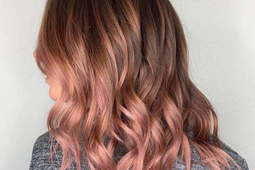 Rose gold decoloración cabello